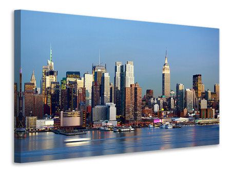 Stampa su tela Skyline di Midtown Manhattan