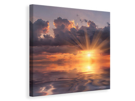 Canvas print Thrilling Sunset