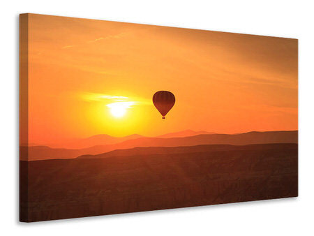 Canvas print Hot Air Balloon At Sunset