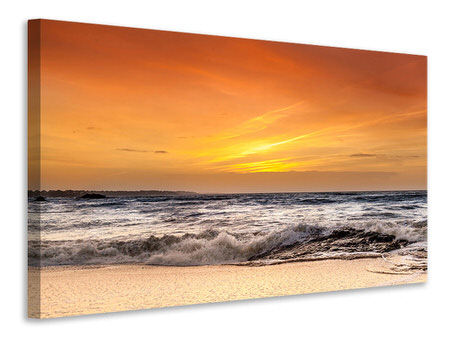 Canvas print Lake With Sunset