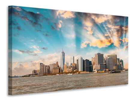 Leinwandbild Skyline New York from the other Side