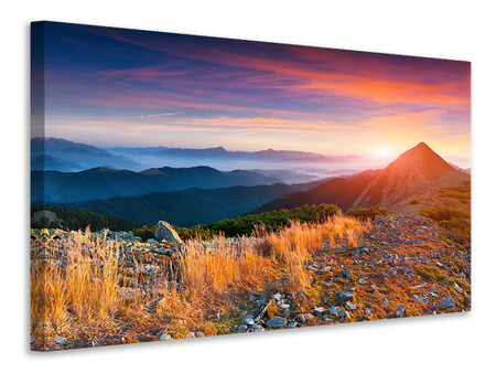 Canvas print Sunset In The Alps