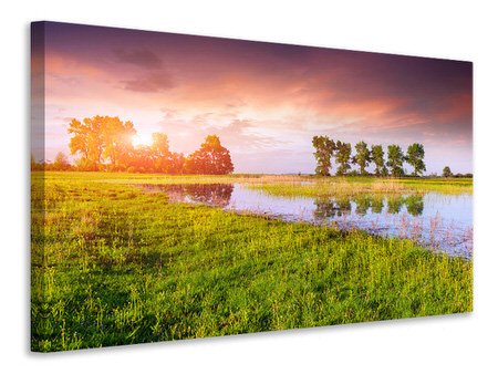 Canvas print Sunset On Lake