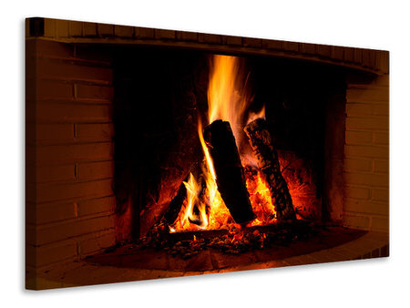 Canvas print Fire In The Chimney