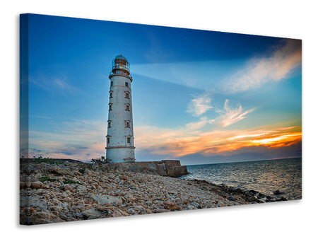 Canvas print Sunset At The Lighthouse