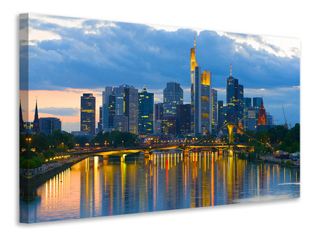 Leinwandbild Skyline Frankfurt am Main