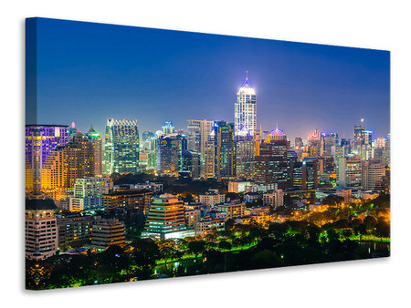 Canvas print Skyline One Night In Bangkok
