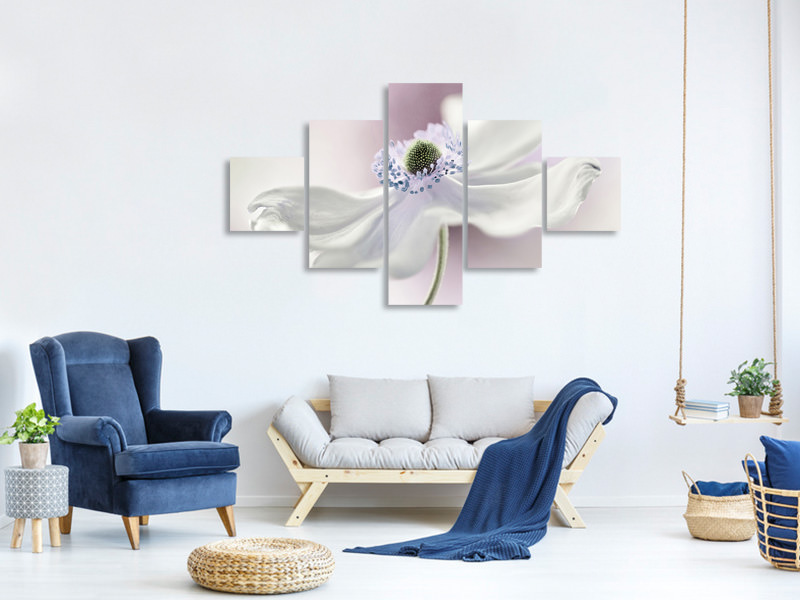5 Piece Canvas Print Anemone Breeze