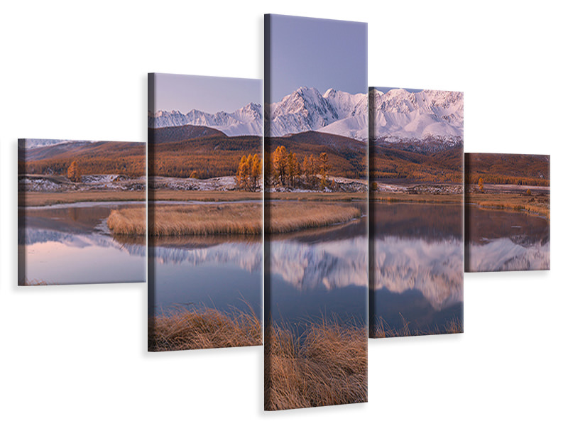 Leinwandbild 5-teilig Mirror For Mountains 2