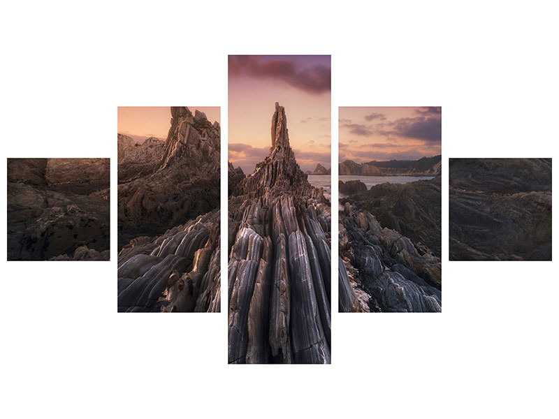 5 Piece Canvas Print Gueirua Needles II