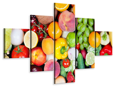5 Piece Canvas Print Fresh Fruit