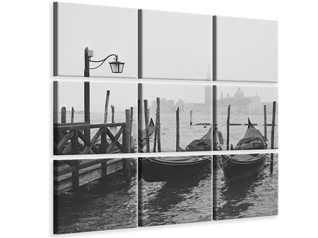 9 Piece Canvas Print Morning In Venice